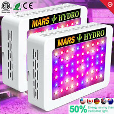 2PCS Mars 300W LED Grow Light Hydro Full Spectrum for Indoor Veg Flower Plants