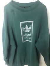 Vintage Black Tag Adidas Crewneck Sweater Green Size Small