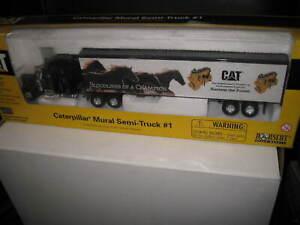CAT 1/64 CATERPILLAR MURAL SEMI TRUCK & TRAILER  PETERBILT #55079 OLD SHOP STOCK