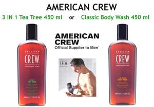 AMERICAN CREW 3 IN 1 TEA TREE 450 ml or CLASSIC BODY WASH 450 ml