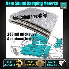 230mil Best Sound Proofing Deadener Heat Barrier Materials Car Mat Area :43Sqft