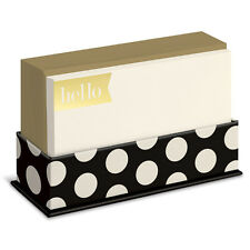 Black and Gold 50 Boxed Flat Note Cards by Graphique de France