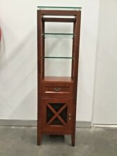 Solid Timber Decorative Toll display cabinet with glass shelves