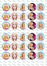 "30 Precut 1"" Barbie Bottle cap Images Set 2"