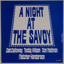 CAB CALLOWAY, TEDDY WILSON: A Night at the Savoy TAX Jazz Swedent LP NM
