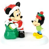 A Gift from Mickey Dept 56 Disney Village 4059718 Christmas mouse accessory Z