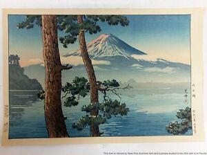 Tsuchiya Koitsu Woodblock Print Japanese Ukiyo-e Mount Fuji 1933