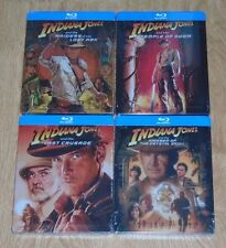 Indiana Jones collection (4 Blu-rays) steelbooks. NEW & SEALED. UK release.