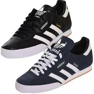 Adidas Mens Trainers Super Samba Retro Originals Casual Shoes Sneakers Black UK