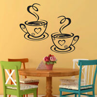 COFFEE CUPS KITCHEN wall stickers cafe shop tea cup decal vinyl quote art vinyl