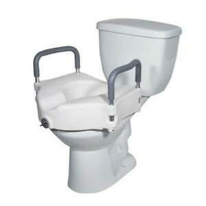 DRIVE 1 EA RTL12027RA 2 in Locking Elevated Toilet Seat with Tool Free 300 CHOP