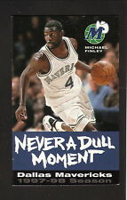 Michael Finley--Dallas Mavericks--1997-98 Schedule--Bud Light--Blue Version