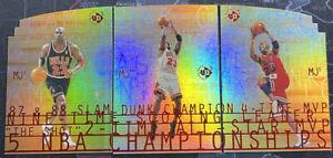 1997-98 UD3 Upper Deck Michael Jordan 3x Full Complete Set MJ3 MJ2 MJ1 EX READ!