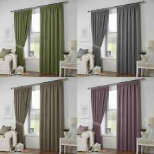 Curtina Ready Made Solid Modern Curtains & Pelmets