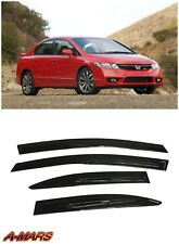 Window Visors Rain Shade Deflector for Honda Civic Sedan 4dr 2006-2011