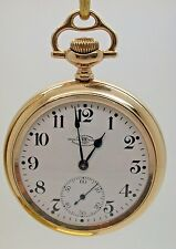 VINTAGE BALL HAMILTON M 999 23 JEWEL POCKET WATCH 1910 GOLD FILLED CASE 1C