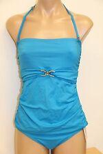 NWT Michael Kors Swimsuit Tankini 2 pc set Sz M Summer Blue Strap