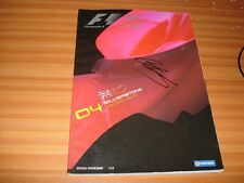 BRITISH GRAND PRIX SILVERSTONE 9 - 10 - 11 JULY 2004 SIGNED OFFICIAL PROGRAMME