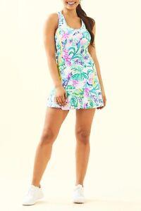 NWT Lilly Pulitzer Mianna Tennis Dress Mermaid in the Shade XL $138