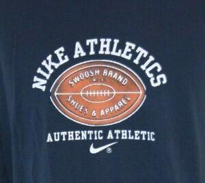 Nike T Shirt Mens XL Long Sleeve Swoosh Vintage Blue