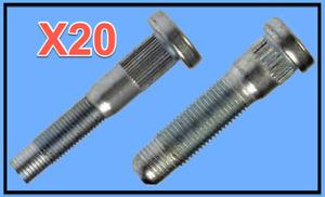 20 Wheel Lug Stud Front & Rear Replace GMC OEM# 610434/428