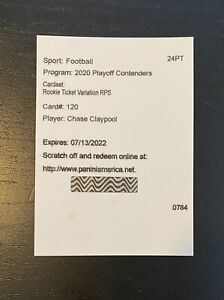 2020 Contenders CHASE CLAYPOOL Pittsburgh Steelers RC Rookie VARIATION AUTO - SP