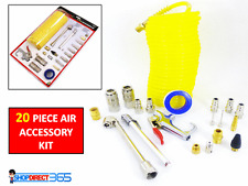 20PC Air Compressor Fittings Accessory Tool Kit Dust Blow Gun Hose Gauge CT3269