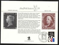 1990 Stamp World London, souvenir card SCCS: PS-70 with cancel