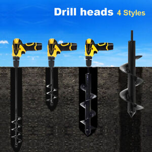 4 Size Power Hole Digger Kit Flower Planting Garden Yard Auger Spiral Drill Bit