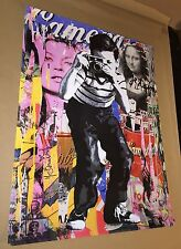 MR BRAINWASH SMILE LITHOGRAPH POSTER PRINT ANDY WAROL KATE MOSS MONA LISA 2011
