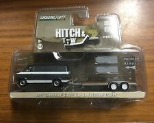Greenlight Hitch & Tow 77 Chevy Van & Flatbed Car Hauler Series 3