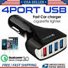 4-Port USB 4.2A Fast Car Charging Adapter Quick Charger for Phone US