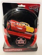 Disney Cars 3 Kid Safe Volume Headphones  New Gift McQueen