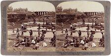 Chine.China.Dalian.Dalny.Manchuria.Chinese Coolies Exca.Photo Stereo stereoview.
