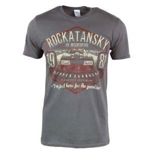 Mad Max Rockatansky V8 Interceptor Car T Shirt Mens Retro Grey NEW 1981 Movie