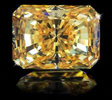 11 KT Fantastico Smeraldo SPLENDENTE CANARINO VINTAGE TOP zirconia cubica
