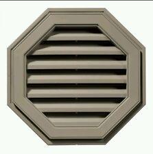 "Mid America Siding Components 18"" Octagon Vinyl Gable Vent Clay"
