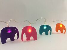 Elephant Battery Powered Felt 20 LED Light Chain