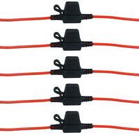 5x Etanch Porte-fusible Câble 12V 30A Standard Enfichable Lame Voiture Camions