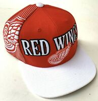 Detroit Red Wings Mitchell & Ness Red Snapback Hat Cap Adjustable One Size Fits