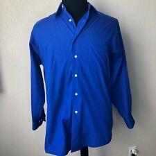 Van Heusen Medium Neck 15.5 32/33 Dress Shirt Mens Blue Button Down