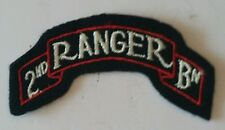 Patch title US 2nd RANGER Bataillon WWII - REPRO fabrication ancienne