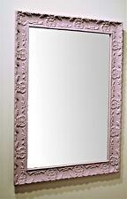 Specchio specchiera da parete cornice rosa 56x76 made in Italy per cameretta