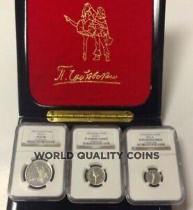 Russia 1995 Set 3 Platinum Coins Ballet Sleeping Beauty NGC PF68-69 Box