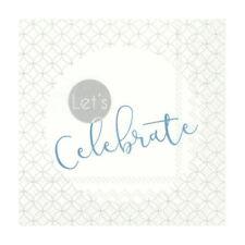 Paper Wedding Napkins Celebration Blue White Disposable Cocktail Party Serviette