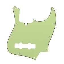 3Ply Color Verde Menta 4 Cuerdas Jazz Bass Pickguard Rasguño Placa 10 Agujeros Y Tornillos