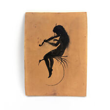 Antique KARL DIEFENBACH Painting / Ink Drawing Silhouette FAIRY German Symbolist