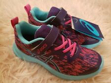 ASICS, new with tags, youth girls size 1 medium, blue, pink & purple
