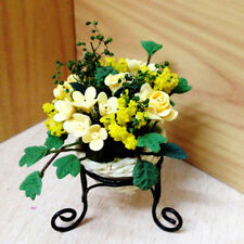 1:12 Scale Dollhouse Mini Flower Pot Stand Handcrafted Garden Decor Toy Great