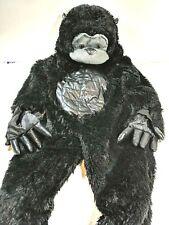 Toddler Gorilla Monkey Ape Black Soft Costume Halloween Jumpsuit Size 2T Euc